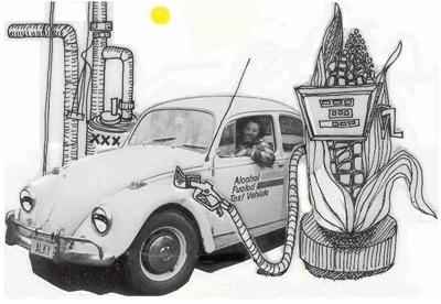 corn bio fuel cartoon