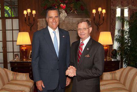 Tom Tamarkin and Mitt Romney